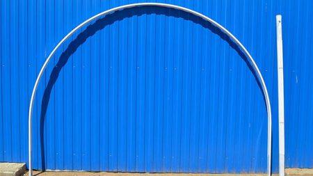 Металлическая оцинкованная дуга для теплицы из сотового поликарбоната Стандарт, Агросфера