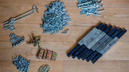 Фото набора фурнитуры Агросфера для сборки теплицы под поликарбонат Стандарт