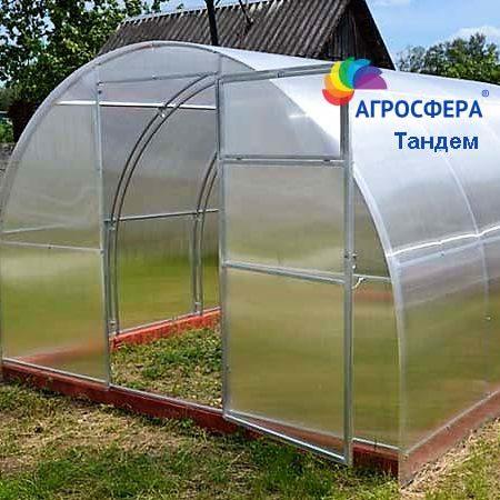 Теплица из ячеистого прозрачного поликарбоната Тандем-Агросфера, фото