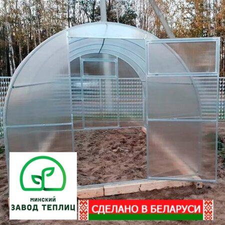 Поликарбонатная теплица Компакт шириной 240 см