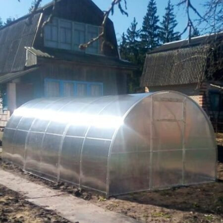 Установленная на грунт теплица из поликарбоната МЗТ Триумф 40х20 мм, 0,67 см