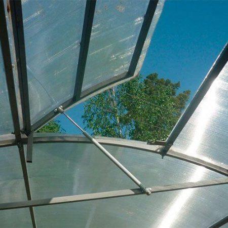 Поликарбонатная теплица МЗТ 40Ц-0,67 профиль 40x20 шаг между дугами 0,67 м