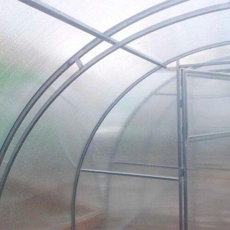 Поликарбонатная теплица МЗТ ФЦ-0,67 профиль 20x20 шаг между дугами 0,67 м