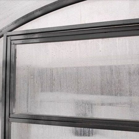 Поликарбонатная теплица Тундра Широкая шириной 4 м, профиль 40х20 мм шаг между дугами 0,5 м