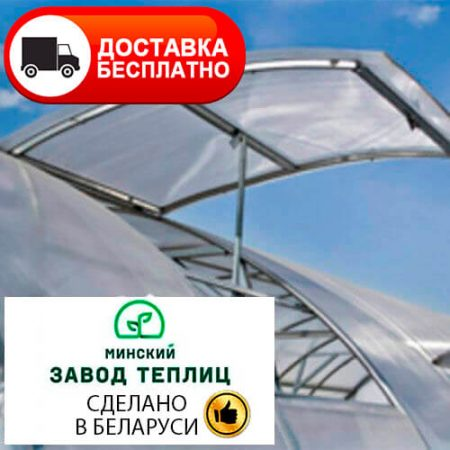 Теплица из поликарбоната МЗТ 40Ц-0,67 Автоинтеллект труба 40х20, шаг 67 см