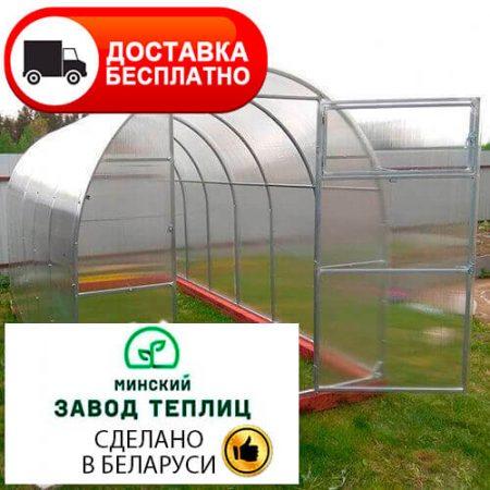 Теплица из поликарбоната МЗТ мини 20М-0,67 ширина 2 м, труба 20х20, шаг 67 см